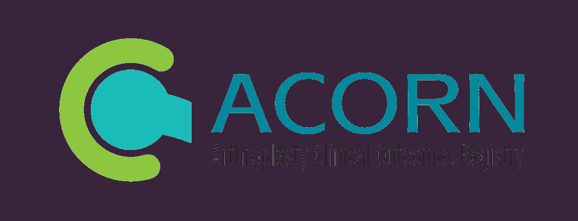 The ACORN is a multicentre registry that aims to improve the quality and effectiveness of joint replacement surgery by monitoring and evaluating patient reported clinical outcomes after surgery.